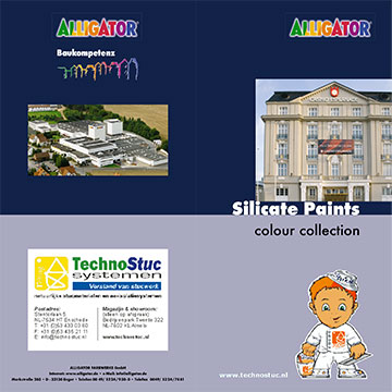 Technostuc silicaatverf kleurenkaart (meer kleuren mogelijk)